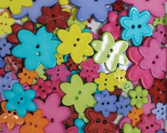 Blumenthal Buttons Big Bag Flowers Bulk Grab Bag Craft Buttons Variety Pack