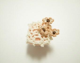 Crochet Lace Jewelry (Lace Fantasia I-a) Fiber Jewelry, Statement Ring, Crochet Ring