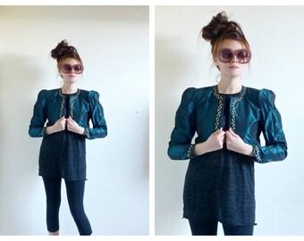Steampunk Bolero- Small, Jessica McClintock, 4, Seagreen, Edwardian