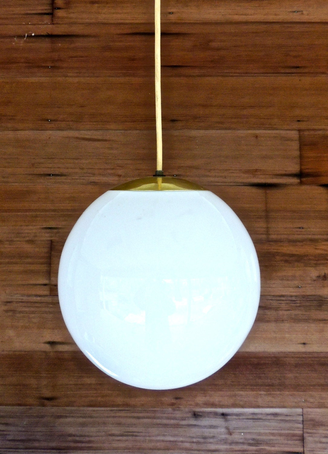Vintage Globe Pendant Light 1950s 60s Mid Century Large By