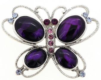 Purple Butterfly Pin Brooch 1002402