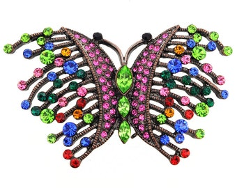 MultiColor Wiry Butterfly Pin Brooch 1002321