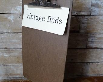 Vintage Clipboard Large  Masonite Adorable