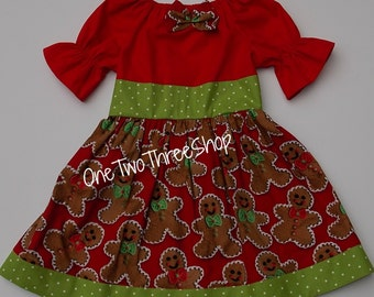 Ginger bread Christmas peasant dress