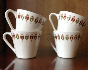Vintage Mid Century Coffee Cups / Syracuse Restaurant Ware / Captains Table Restaurants / Syracuse Syralite