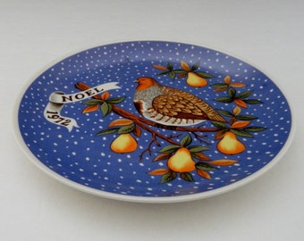 J C Penney 1972 Noel Christmas Plate Partridge in the Pear Tree - Limited Ed #64