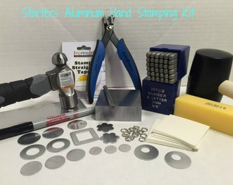 Start Stamping Kit -Aluminum Starter Kit- Get Started - Easy to stamp Aluminum Blanks-Learn Today!