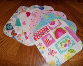 GIRL GRAB BAG,Reusable Cloth Wipes, Flannel Cloth Baby Wipes, Wash Cloths, Cleaning Rags, Mystery Set of 24