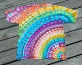 Custom Made Tie Dye Rainbow Rays T-shirt / Ice Dyed Shirt by Pieceful Worlds Ice Dyed Rainbows