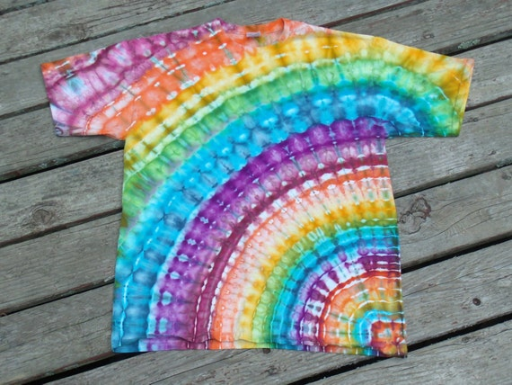 Custom made tie dye rainbow rays t shirt ice by for Types of tie dye shirts