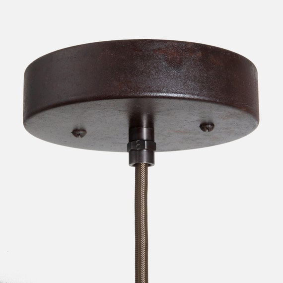 ebony rust ceiling canopy kit coupling pendant by fleamarketrx. Black Bedroom Furniture Sets. Home Design Ideas
