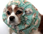 Land Down Under Dog Snood, Stay-Put 3 Rows Elastic Thread, Long Ear Coverup - Cavalier King Charles or Cocker Snood