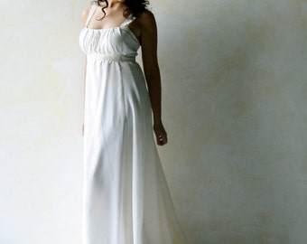 Empire wedding dress, Hippie Boho wedding dress, Beach wedding dress, Simple wedding dress, silk wedding dress, maternity wedding dress
