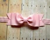 Light Pink Bow Headband. Pink Baby Bow Headband. Pink Baby Headband. Baby Hair Accessories. Girls Hair Accessories. Light Pink Headband