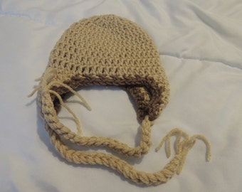 Clearance Ear Flap Hat Ready To Ship Size 0-3 Month Brown