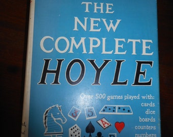 Vintage Book Hoyle The New Complete Hoyle over 500 games played wth cards dice boards c1956