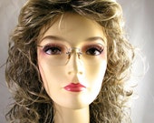 Vintage Floating Rim Rimless White Gold Fill Ornate BiFocal Glasses American Optical AO 1/10 12KGF - Free USA Shipping
