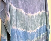 Blue Green Silk Crepe De Chine yardage or Sarong