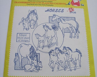 HORSES - Aunt Martha's Hot Iron Transfers - 3936 - Never Used