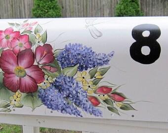 Custom hand painted mailbox