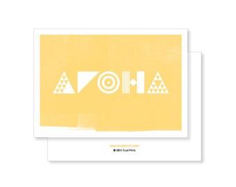 Aroha (Love) Greeting Card - yellow