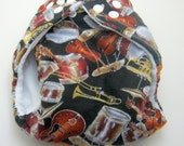 Ready to Ship Musical Instruments Regualr One Size Cloth  Diaper by Los Chiquitos