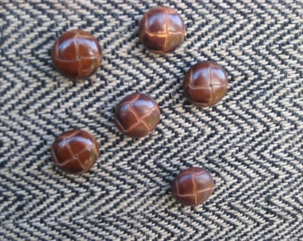 Masculine Magnet set of six vintage leather and resin button rare earth magnets, select your color choice for a jensdreamdecor magnet board