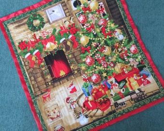Advent Calendar, Waiting for Santa, Christmas Tree Advent Calendar, Christmas Wallhanging, Christmas Decoration, Fabric Advent Calendar