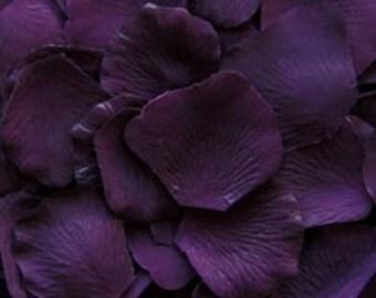 500 Eggplant Deep PURPLE Silk Artificial Rose Petals Wedding Favor Decoraition Flower Girl