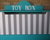 Toy Chest Bench Toy Box KIDS and Baby Teal Turquoise Gray ANY Color Toy Box Toy Storage Hope chest. Custom