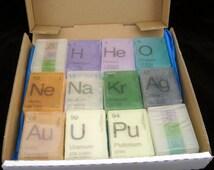 In Your ELEMENT Periodic Table Soap Mega Gift 12 Pack - RAIN Scent - Vegan