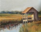 Landscape Painting, Marsh Painting, Pawley's Island