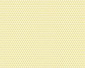 Yellow and Cream Triangle Geometric Stripe Cotton Fabric, Oh Boy By Lori Whitlock for Riley Blake, Boy Triangle Print in Yellow, 1 Yard