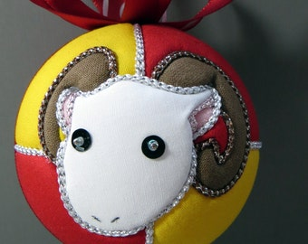 Christmas Ornament - Personalized Year of the Ram