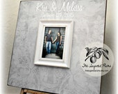 Wedding Guest Book, Guest Book Alternative, Rustic Wedding, 20x20 The Sugared Plusm Frames