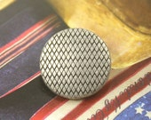 Metal Buttons - Beautiful Mesh Surface Metal Buttons , Antique Silver Color , Shank , 0.59 inch , 10 pcs