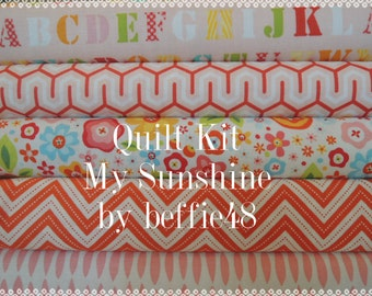 My Sunshine Rag Quilt Kit, Easy to Make, Personalized, Fast Shipping