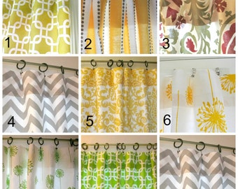 SALE SALE SALE Two Curtain Panels Your Choice 25 x 63, 25 x 84,  25 x96, 25 x 108 Window Curtains, drapes, pamels
