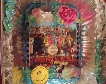 Sgt Pepper Shrine number 2, mixed media, altered art, hand made