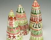 Table Top Ceramic Christmas Tree, Hand Made Christmas Tree, Decorative Christmas Tree, Primitive Christmas Tree, Natural Christmas Decor