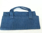 Denim washable large Grocery bag, eco-friendly marketing shopping reusable