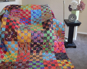 Quilt Kaffe Fassett Snips and Snails Brights and Darks Twin Made to Order