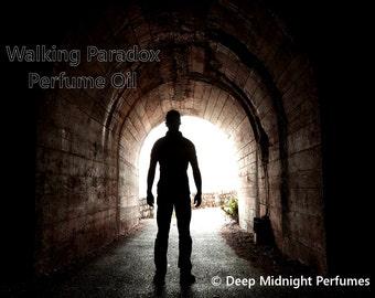 Walking Paradox Perfume Oil: WALKING DEAD inspired PERFUME, red cedar, sandalwood, amber, bergamot, tomato leaves, cucumber, and herbs