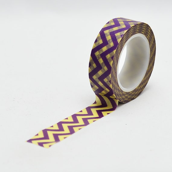 purple and yellow Zig Zag Chevron pattern Washi Tape LMT - 1187 - Love My Tapes