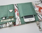 Nerd Herder gadget wallet in Woodland Walk for iPhone 5, Android, Samsung Galaxy S5, MP3, digital camera, smartphone, guitar picks