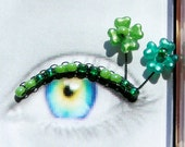 Shamrock Eyelash Jewelry - false eyelashes with four leaf clovers