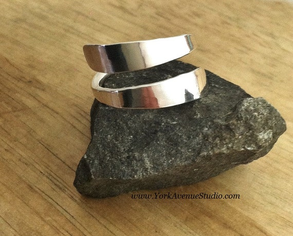 Sterling Wrap Ring Personalized Custom Name Word Special Meaning