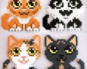 Custom Perler Bead Cat Magnet x2 for JediSilverstar