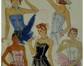Bustier Top Pattern, Strapless, Straps, Lace-up/Button Front, Fitted, Shaped Bodice, McCalls No. 3466 UNCUT Size 10