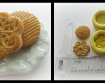 Cookie Silicone Mold Cabochon Fake Food Doll House Polymer Clay Resin Mould